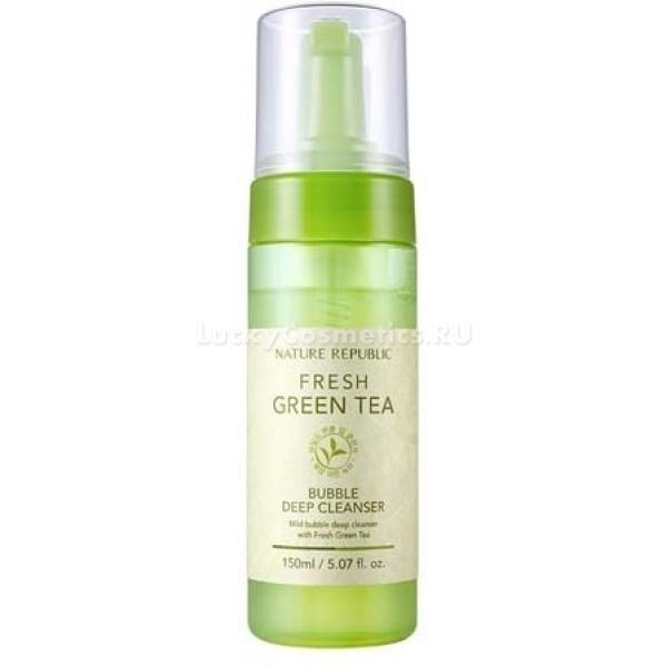 Купить Nature Republic Fresh Green Tea Bubble Deep Cleanser
