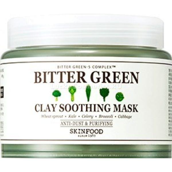 Skinfood Bitter Green Clay Soothing Mask -  Для лица