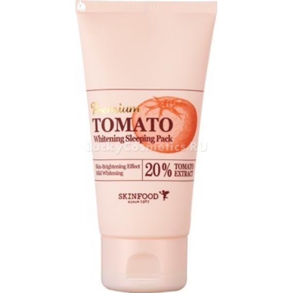 Skinfood Premium Tomato Whitening Sleeping PackПрофессиональный уход и восстановление кожи теперь возможно не выходя из дома. Средство Premium Tomato Whitening Sleeping Pack бережно заботится и дарит молодость Вашей коже. Продукт обладает уникальной формулой, благодаря чему кожа лица восстанавливается, разглаживается и омолаживается. Продукт от корейского бренда Skinfood содержит натуральный экстракт томата, который бережно заботится о коже, в о время как Вы отдыхаете.<br>Уникально подобранные растительные компоненты улучшают состояние кожи, способствуют ее омоложению и лучшему виду. Продукт интенсивно питает клетки, способствуя их самообновлению. Питательные компоненты маски мгновенно проникают в строение дермы и замедляют старение клеток. Продукт деликатно устраняет ороговевшие клетки, угревую сыпь и покраснения.<br>Томатный экстракт интенсивно увлажняет, глубоко питает и делает кожу на тон светлее. Устраняет выраженную пигментацию, удаляет следы постакне и снимает воспаления. При постоянном использовании кожа обретает свежий и увлажненный вид.Объём: 100 гр.Способ применения:На предварительно очищенную и тонизированную кожу лица нанесите продукт и оставьте на ночь. Утром удалите средство с кожи.<br>
