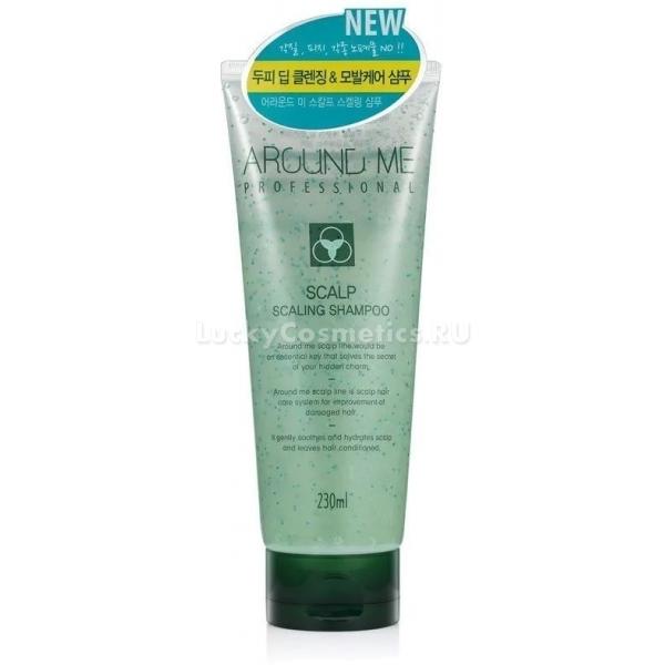 Welcos Around Me Scalp Scaling ShampooКрасота, густота и здоровье шевелюр напрямую зависит от здоровья кожи головы. Тщательное глубокое очищение и своевременное отшелушивание омертвевших клеток, которое подарит шампунь-скраб для глубокого очищения Scaling Shampoo от Welcos, предотвратит появление таких неприятных проблем, как сухая перхоть, зуд, выпадение и повышенная жирность волос.<br>Благодаря ментолу в составе, дарящему приятный бодрящий аромат, шампунь бережно удаляет остатки укладочных средств, пыль и кожный жир, нормализуя деятельность сальных желез. Прическа дольше сохраняет свежесть, выглядит пышной, что не может не радовать!<br>Пресечь размножение бактерий, устранить неприятные ощущения и заживить микроповреждения на коже поможет салициловая кислота. Ее мягкое воздействие способствует устранению перхоти, которая портит образ, неопрятно оседая на одежде и локонах.<br>Ценные масла розы и черного тмина глубоко питают и восстанавливают волосы от корней до самых кончиков, глубоко увлажняют кожу головы и «пробуждают» волосяные фолликулы, находящиеся в неактивной фазе роста.<br>После регулярного глубокого очищения с профессиональным средством из серии Around Me вы заметите, насколько сияющими, упругими и объемными стали локоны!Объём: 230 мл.Способ применения:Вспенить в ладони небольшое количество шампуня, затем распределить по коже головы и помассировать в течение 1 минуты. Смыть продукт, затем повторить процедуру очищения.<br>