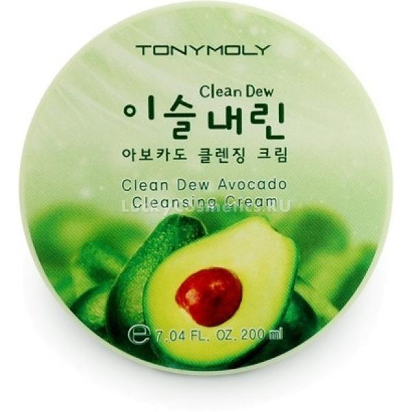 Tony Moly  Clean Dew Avocado Cleansing CreamЕсли вы не любитель пенок для умывания, то ваш выбор обязательно упадет на крема для умывания. Очищающий крем с авокадо &amp;nbsp;Clean Dew Avocado Cleansing Cream от Tony Moly подходит даже для самой нежной и чувствительной кожи.<br><br>В составе крема:<br><br>Экстракт авокадо: глубоко увлажняет, питает кожу и придает ей упругость. Плоды авокадо богаты витамином Е, который также называют витамином молодости, он поможет вашей окже справляться с вредным воздействием окружающей среды и оставаться молодой и свежей долгое время.<br><br>Аллантоин: мощно стимулирует регенерацию клеток, используется для заживления ссадин и трещин. Также аллантоин обладает кератолитическим действием и борется с сухостью, огрубением и шелушением кожи.<br><br>Очищающий крем с экстрактом авокадо [Tony Moly]&amp;nbsp; Clean Dew Avocado Cleansing Cream не содержит парабенов, триклозана, талька, бензофенона.<br><br>Способ применения:<br><br>Нанесите достаточное количество средства на&amp;nbsp; лицо и помассируйте. После того, как крем впитает загрязнения и макияж, снимите его сухой салфеткой, затем умойте лицо.<br><br>&amp;nbsp;<br>