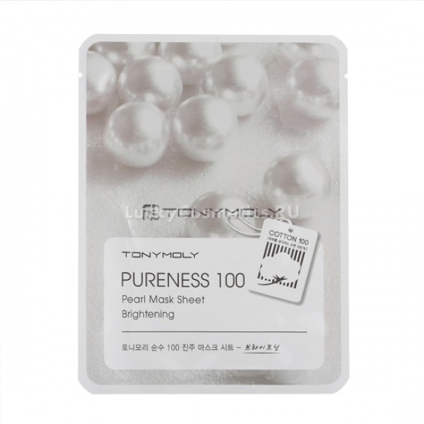 Тканевая маска для лица с экстрактом жемчуга Tony Moly Pureness 100 Pearl Mask Sheet