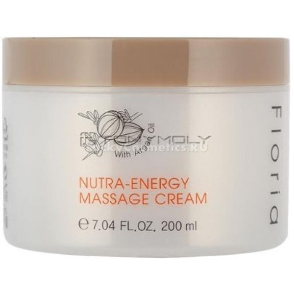 Tony Moly Floria Nutra Energy Massage CreamПитательный крем с аргановым маслом Floria Nutra Energy Massage Cream от косметического бренда Tony Moly станет превосходным средством для ежедневного ухода. Его натуральные компоненты помогут оздоровить кожу, дать ей питание и увлажнение, а также подарить более совершенный внешний вид.<br><br>Так, аргановое масло передает коже собственные витамины и полезные микроэлементы, обязательные для красоты. Кроме того, оно поистине увлажняет кожу, делая ее более гладкой и ровной. Также масло арганы &amp;ndash; это превосходный защитный компонент, который убережет вашу кожу от негативного влияния низких и высоких температур, солнца, ветра.<br><br>Настойка сафлоры поможет интенсивно увлажнить даже глубокие слои дермы. Это избавит вас от неприятного чувства стянутости, возникновения шелушения после умывания.<br><br>Аденозин &amp;ndash; главный компонент молодости в формуле этого питательного средства. Он эффективно справляется с проявившимися морщинками, делая их менее глубокими, а значит и менее заметными, а также участвует в осветлении кожи и придании ей свежести. Аденозин &amp;ndash; &amp;laquo;виновник&amp;raquo; того, что ваша кожа станет при регулярном применении этого питательного крема выглядить отдохнувшей.<br><br>&amp;nbsp;<br><br>Объём: 200 мл<br><br>&amp;nbsp;<br><br>Способ применения:<br><br>Этот питательный крем следует наносить на кожу перед умыванием. По массажным линиям распределите средство равномерно, а затем вытрите его излишки мягкой сухой салфеткой и умойтесь теплой водой.<br>