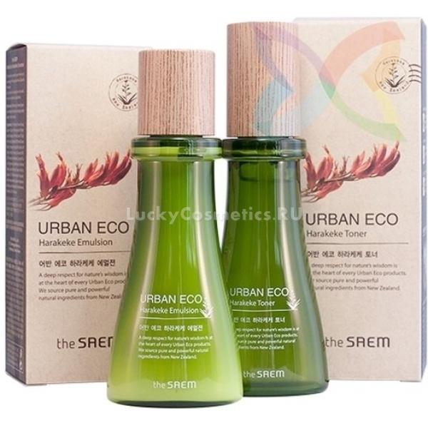 The Saem Urban Eco Harakeke Deluxe Gift  SetХеракеке &amp;ndash; так называется новозеландский лен, обладающий целебными свойствами. Именно его отвар стал основой для создания мягкой уходовой косметики для специалистов The Saem. Результатом их трудов стали средства, входящие в набор Urban Eco Harakeke Deluxe Gift 2 Set. Это тонер и эмульсия, бережно воздействующие на кожу и дарящие ей красоту.<br><br>Так, новозеландский лен обладает свойством смягчать и питать кожу, а также способностью залечивать воспаления. Он &amp;ndash; превосходный антисептик, который справится с бактериальными и вирусными агентами и не даст воспалению затянуться, не оставит ему возможности принести дискомфорт.<br><br>В составе средства также экстракт календулы. Его действие схоже с вышеописанным компонентом: это также превосходный антисептик, который помогает заживлять ранки.<br><br>Дополняет действие этих двух компонентов мед мануки. Он &amp;ndash; универсальное средство, подходящее всем типам кожи. Сухую он увлажняет, нормальную &amp;ndash; тонизирует, а жирную и проблемную избавляет от высыпаний и избытка сальных выделений.<br><br>Применение нескольких средств линейки позволит вам подарить своей коже бережный уход.<br><br>&amp;nbsp;<br><br>Объём: 55 + 55 мл<br><br>&amp;nbsp;<br><br>Способ применения:<br><br>Тонером смочить ватный тампон, а затем протереть им лицо. Эмульсию использовать после тонизирования. Нанести на кожу несколько капель, распределить, оставить до полного впитывания.<br>