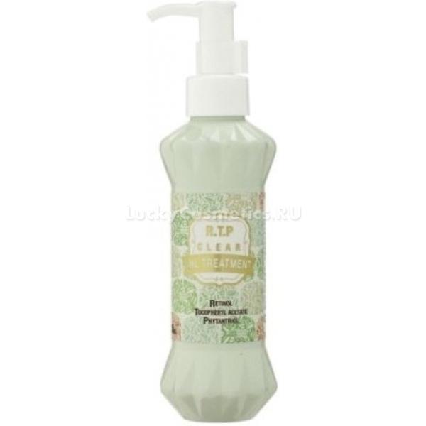Lombok RTP Clear Oil TreatmentДанное масло является лучшей ухаживающей находкой для ослабленных, поврежденных и истощенных волос. Его легкая текстура, а также высокий уровень впитываемости благоприятствуют быстрому проницанию полезных компонентов в структуру и насыщение ее необходимыми элементами. Экстраоздоравливающий эффект масла обеспечивается благодаря содержанию уникального витаминного комплекса RTP в составе. Комплекс RTP включает в себя наличие таких компонентов, как ретинол, токоферол, а также фитантриол. Ретинол обладает активирующими свойствами на корни волос, а также придает блеск по всей длине. Токоферол питает и увлажняет структуру, а также имеет стимулирующий эффект. Фитантриол укрепляет луковицы, а также разглаживает волосы, придавая им мягкость, разлаженность и шелковистость. Регулярное применение масла позволит качественно улучшить состояние проблемных волос, сделать их здоровыми, красивыми и невероятно ухоженными. Станьте обладательницей идеальных волос, применяя это укрепляющее масло от корейского бренда Lombok.Объём: 150 млСпособ применения:Продукт рекомендуется наносить на влажные волосы в небольшом количестве от корней до кончиков, а затем прогреть волосы феном для лучшего проницания полезных веществ в структуру, не смывать. Также возможно применение масла с последующим смыванием водой без использования шампуня, оставляя его под шапочкой на влажных чистых волосах на 10 минут для воздействия.<br>