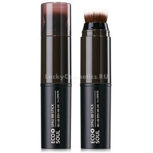 BB The Saem Eco Soul Spau BB StickСоздать идеальный макияж становится еще проще с Eco Soul Spau BB Stick &amp;ndash; новым стиком от корейской компании The Saem. В комплекте с ВВ-карандашом вы получаете удобную кисточку, выполненную из натуральных материалов. Она позволит равномерно растушевать средство и получить еще лучший результат.<br><br>Этот ВВ-стик выравнивает тон кожи не только визуально. Он проникает в мельчайшие неровности и заполняет их собой. В результате покрытие получается однородным, натуральным и естественным.<br><br>Этот ВВ-стик подходит для сухой кожи. В его составе содержится вода бельгийских SPA-источников. Она увлажняет кожу и отдает ей минералы, которые, проникая в каждую клеточку, способствуют поддержанию здорового тургора и водно-жирового баланса.<br><br>Кроме того, в составе средства ухаживающее масло ши, которое превосходно питает и смягчает кожу. Гель алоэ вера позволяет добиться здоровья кожи, снять шелушения и раздражения.<br><br>Это не просто действенное тональное средство, это полноценный ухаживающий и увлажняющий крем. Берегите свою кожу.<br><br>&amp;nbsp;<br><br>Объём: 12 г<br><br>&amp;nbsp;<br><br>Способ применения:<br><br>Нанесите тональное средство на подбородок, лоб, нос и скулы. Затем равномерно растушуйте его при помощи кисточки.<br>