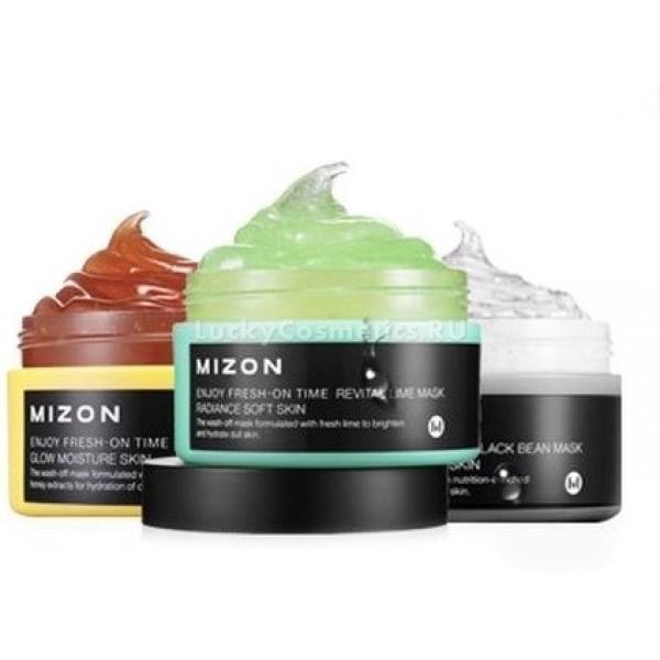 Mizon Enjoy FreshOn TimeОсвежи время для своей кожи &amp;ndash; заставь ее вспомнить об утраченной упругости и эластичности! Благодаря специализированной серии масок от Mizon это становится простым и легким!<br><br><br>Black Been Mask &amp;ndash; маска с белками из черных соевых бобов, которые позитивно влияют на скорость синтеза структурных протеинов клеточного матрикса, благодаря чему повышается упругость, гигроскопичность и эластичность кожи.<br>Revital Lime Mask &amp;ndash; освежающая лаймовая маска, улучшающая цвет кожи за счет регуляции кровообращения поверхностных капилляров и повышения их тонуса. Витаминный коктейль по налаженной транспортной системе быстро достигает каждой клетки эпидермиса, за счет чего повышаются защитные и регенерационные свойства кожи.<br>Sweet Honey Mask &amp;ndash; одна из немногих масок, которая способна снижать чувствительность кожи, что защищает ее от воздействия окружающей среды. Эпидермис под медовой маской быстрыми темпами восстанавливает гладкость, упругость и приятный ровный цвет. Благодаря антибактериальным свойствам медовый экстракт избавляет лицо от инфекционных воспалений и покраснений, спровоцированных нарушениями баланса микрофлоры.<br><br><br>&amp;nbsp;<br><br>Объём: 100 г<br><br>&amp;nbsp;<br><br>Способ применения:<br><br>Небольшое количество маски распределить по чистой и сухой коже лица, оставить на 20 минут. По истечению этого времени не впитавшиеся остатки средства смыть теплой водой.<br>