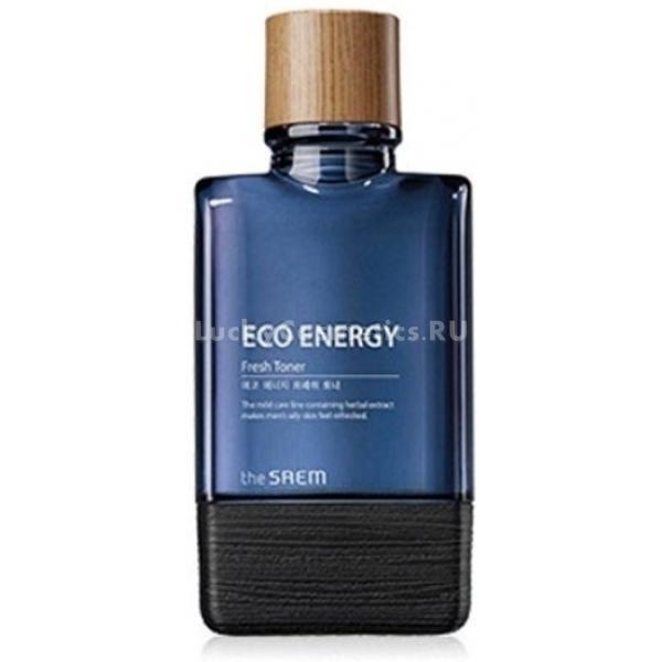 The Saem Eco Energy Fresh TonerОсвежающий тонер от корейского бренда The Saem разработан для ухода за мужской кожей. Он наполняет ее энергией, защищает от потери влаги и избавляет от неприятного ощущения стянутости, возникающего после умывания.<br><br>Тонер, интенсивно увлажняя кожу, завершает процесс очищения кожи. Он улучшает дыхание дермального покрова и контролирует работу сальных желез, деликатно, но эффективно отшелушивая ороговевшие клетки. Кожа в результате использования средства разглаживается и приобретает ухоженный внешний вид.<br><br>Производитель отмечает, что тонер можно применять в качестве успокаивающего и снимающего раздражения средства после бритья. Состав питательного тонера богат натуральными омолаживающими компонентами.<br><br>Косметический продукт обогащен экстрактами чайного дерева, центеллы азиатской, лаванды, ромашки, розмарина и фенхеля. Растительные ингредиенты повышают упругость кожи, уменьшают отечность лица, убирают покраснения, осветляют нежелательное пигментирование. Работая в комплексе, они улучшают микроциркуляцию крови в дермальном покрове, что способствует выработке протеинов и керамидов.Объём: 150 млСпособ применения:Тонер наносится на кожу лица после умывания подушечками пальцев или ватным диском.<br>