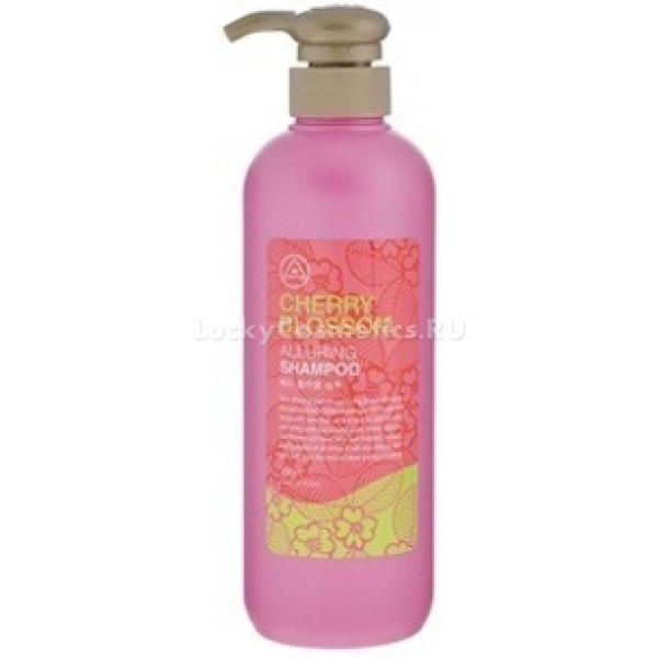 Mukunghwa Rossom Cherry Blossom ShampooШампунь с экстрактом вишни не только восстанавливает волосы от повреждений по всех их длине, но и позитивно влияет на состояние кожи головы &amp;ndash; она перестает шелушиться, становится тонизированной и увлажненной, смягчается.<br><br>В состав шампуня входят компоненты, которые не только эффективно очищают кожу головы и волосы от себума, но и позволяют усилить рост волос, стимулируя питание фолликулов. Так, бамбуковый экстракт обладает тонизирующими свойствами, улучшает микроциркуляцию в поверхностных сосудах кожи, пробуждает спящие волосяные луковицы.<br><br>Экстракт вишни не только делает волосы шелковистыми и эластичными, придает средству приятный ягодный аромат, но и оказывает местное антисептическое действие, препятствуя развитию перхоти.<br><br>&amp;nbsp;<br><br>Объём: 550 мл<br><br>&amp;nbsp;<br><br>Способ применения:<br><br>Хорошо намочите волосы под душем и вспеньте немного шампуня в ладонях, после чего вмассируйте его в корни волос, спустя минуту смойте прохладной водой. На нижнюю треть длины волос шампунь наносить не стоит, так как кожный жир обычно не покрывает больше 10-15 сантиметров от корней. Повторное нанесение шампуня рекомендуется только при очень жирных и густых волосах, для очищения которых стандартного количества средства недостаточно.<br>
