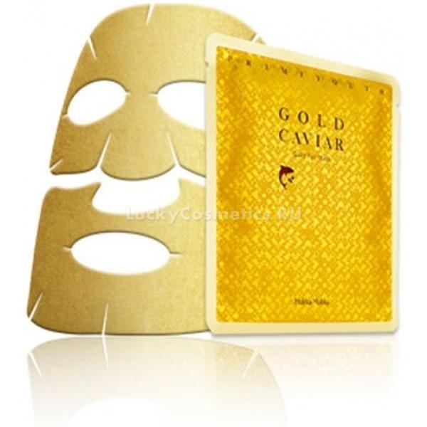 holika holika prime youth gold caviar foil maskМаска премиум-класса, которая обладает ярко выраженным омолаживающим эффектом. Интенсивное воздействие экспресс-средства обусловлено её особым составом. Базируется он на трех ключевых элементах &amp;ndash; коллоидном золоте, аденозине и ниацинамиде.<br><br>Золото &amp;ndash; активный проводник, который доставляет полезный крем по все шары эпидермиса, а также является катализатором впитывания нужных компонентов клетками. Аденозин стабилизирует выделение меланина, за счет чего тон поверхности становится идеально ровным. Наконец, ниацинамид способствует регенерации клеток и помогает организму синтезировать естественный коллаген &amp;ndash; залог упругости.<br><br>Маска также питает кожу витаминами, поскольку в ее состав включены экстракты различных растений: липы, женьшеня, грейпфрута, граната, жимолости. Кожа будет более подтянутой и упругой. Морщины постепенно разглаживаются и минимизируются.<br><br>&amp;nbsp;<br><br>Объём: 25 г<br><br>&amp;nbsp;<br><br>Способ применения:<br><br>Сначала нужно очистить кожу специальной пенкой. Затем желательно увлажнить тонером и использовать эссенцию для возрастной кожи. После чего нужно достать маску и прижать её к поверхности лица (белой частью к коже). Снять через 10-15 минут.<br>