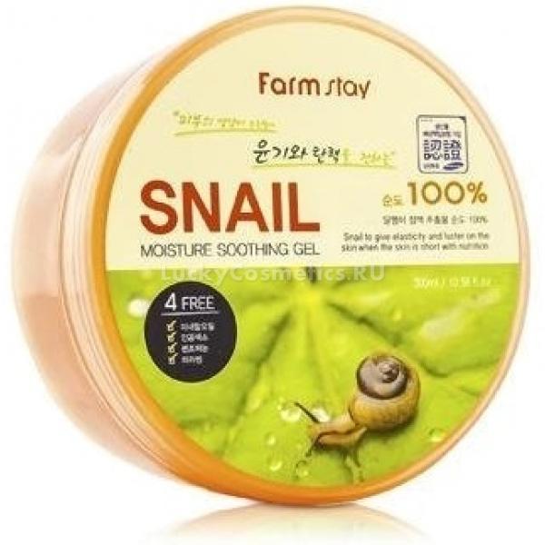 FarmStay Moisture Soothing Gel SnailУниверсальный гель Moisture Soothing Gel Snail подходит для качественного ухода за лицом и телом. Косметическое средство содержит уникальные компоненты, благотворно влияющие на здоровье кожи. Помимо улиточной слизи, которая является кладезью питательных веществ, гель включает растительный экстракты целебных растений. Активные компоненты в составе косметического средства мягко увлажняют и тонизируют воспаленную кожу.<br><br>&amp;nbsp;<br><br>Объём: 300 мл<br><br>&amp;nbsp;<br><br>Способ применения:<br><br>Гель рекомендован для ежедневного применения как универсальное косметическое средство. Гель наносится на чистую кожу лица и тела массажными движениями. Косметическое средство равномерно распределяется по поверхности, не оставляя липких следов и пятен.<br>