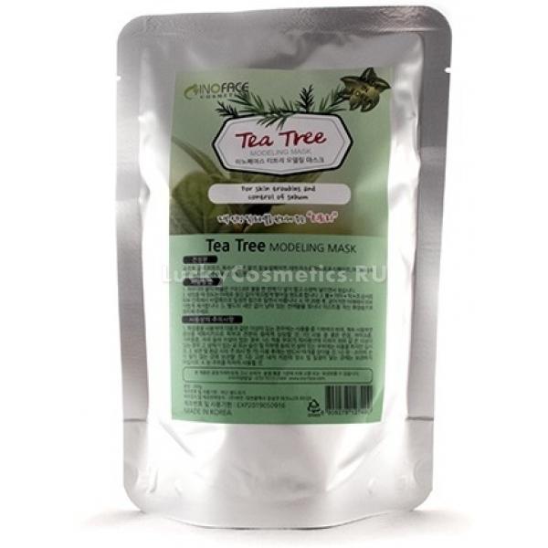 Inoface Tea Tree Modeling MaskАльгинатная маска с экстрактом чайного дерева – идеальное средство для проблемной кожи, склонной к высыпаниям благодаря антисептическим и успокаивающим компонентам. Альгинат получают из морских водорослей, богатыми минералами, микро- и макроэлементами, участвующих в метаболизме кожи.<br>В готовом к применению виде альгинатная маска представляет собой густую однородную субстанцию, по текстуре как жирная сметана, которая плотно прилегает к коже, а при застывании оказывает на нее давление. Именно поэтому полезные компоненты маски либо предварительно нанесенная на кожу сыворотка или эссенция лучше проникают в дерму, давая выраженный визуальный эффект. Альгинатные маски также способствуют моделированию четкого овала лица при возрастном обвисании кожи, снимают отечность и возвращают румянец и здоровый тон.Объём: 200 гСпособ применения:Кожу очищают и увлажняют тонером, после чего разводят порошок альгината водой до консистенции сметаны и равномерно распределяют по лицу, пока маска не застыла. Застывшую или пластифицированную маску снимают двумя пальцами и наносят привычный уход – после альгината кожа становится более восприимчивой к другим косметическим и космецевтическим средствам, потому что улучшается микроциркуляция.<br>