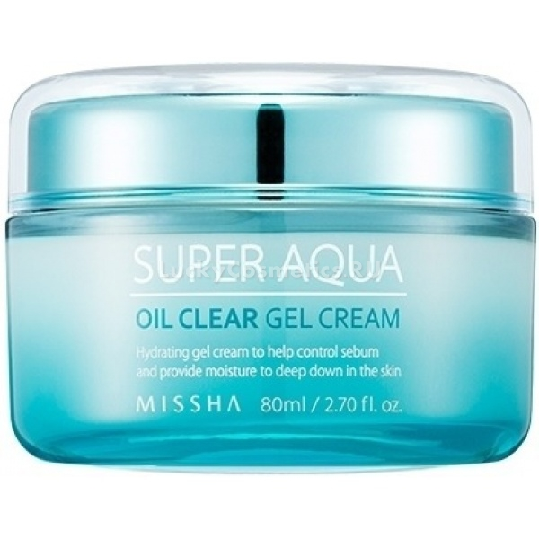Missha Super Aqua Oil Clear Gel CreamДля создания увлажняющего средства для жирной и комбикожи корейские косметологи Missha использовали инновационные разработки. В его основе лежит не вода, а березовый сок, нормализующий жирность кожи. Еще одно немаловажное преимущество – Oil Clear, полное отсутствие в составе масел.<br><br>Крем Super Aqua взял на себя довольно много задач, но, по заявлению азиатского производителя, справляется с ними на «Ура!». Среди основных функций увлажняющего средства выделим следующие:<br>регулирует себум-выделения;<br>ликвидирует угревую сыпь;<br>обновляет структуру кожи;<br>защищает от разрушающих факторов.<br><br>Гиалуроновая кислота в составе продукта полноценно увлажняет кожу и отражает атаки свободных радикалов. Вытяжка планктона отлично матирует, абсорбируя кожное сало. Экстракт семян баобаба доставляет питание в глубокие слои дермы и активизирует барьерные функции кожи. При регулярном использовании крем спасает даже обезвоженную кожу с тусклым сероватым оттенком.<br><br>Не может не радовать большой объем безмасляного увлажняющего средства. Гелевая текстура распределяется по коже мягко и равномерно. Крем хорошо впитывается и не оставляет жирную «маску». После нанесения кожа выглядит отдохнувшей и посвежевшей.Объём: 80 млСпособ применения:Мягко нанесите крем на чистую кожу подушечками пальцев на последнем этапе ухода.<br>