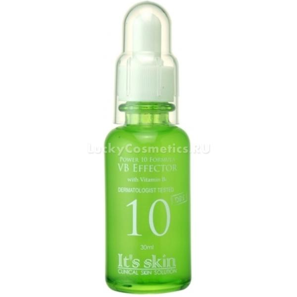 Its Skin Power  Formula Vb EffectorУникальная формула сыворотки от корейского бренда It&amp;#39;s Skin, прекрасно подходит для кожи склонной к жирному блеску, комбинированной кожи и чувствительной склонной к проблемам акне и черным точкам. Сыворотка не содержит искусственных красителей, масел, этанола, поэтому не пересушивает и не вызывает дискомфорта. Приятная текстура средства серии Power 10 Formula мягко распределяется и не течет, на одно применение достаточно нескольких капель.<br><br>Сыворотка VB Effector обогащена комплексом витаминов Е и В6, которые воздействуя на клетки регулируют выделение кожного сала и водный баланс.<br><br>Натуральные компоненты сыворотки увлажняют и насыщают клетки множеством питательных веществ, делая кожу здоровой и сияющей.<br><br>&amp;nbsp;<br><br>Объём: 30 мл.<br><br>&amp;nbsp;<br><br>Способ применения:<br><br>Тщательно встряхните флакон и нанесите несколько капель на желаемые зоны, подушечками пальцев мягко распределите по коже и дайте средству впитаться.<br>