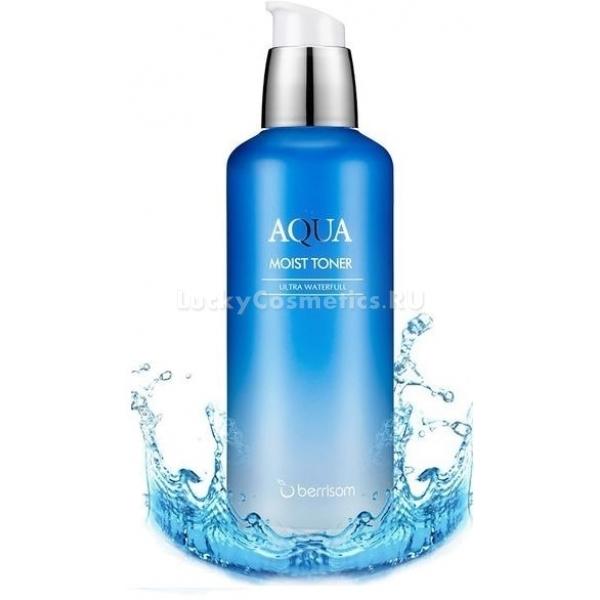 Berrisom Aqua Moist TonerОдин из важных моментов при уходе за кожей – ее увлажнение, поскольку обезвоженная кожа вряд ли будет выглядеть здоровой даже при использовании самых лучших средств. Бренд Berrisom, зная это, представил свой продукт для увлажнения и предупреждения обезвоживания – тонер Aqua Moist Toner.<br>Продукт в первую очередь предназначен для насыщения кожи необходимым количеством влаги, но также он доставляет во внутренние слои питательные вещества, тем самым способствуя преображению кожи. При регулярном использовании тонера лицо становится сияющим, мягким, гладким, исчезают шелушинки, воспаления и покраснения.<br>В составе тонера присутствуют:<br>березовый сок, смягчающий и освежающий, делающий кожу молодой и подтянутой, свежей и красивой;<br>трегалоза, увлажняющая и питающая, придающая сияние и свежесть коже, обладающая антиоксидантным эффектом, защищающая лицо от воздействия всех вредных веществ, с которыми оно контактирует;<br>экстракт энотеры, замедляющий увядание кожи, устраняющий пигментные пятна и выравнивающий тон;<br>экстракт камелии, защищающий кожу от солнечных лучей, способствующий замедлению старения, успокаивающий и снимающий покраснения и раздражения;<br>экстракт клюквы, способствующий удержанию влаги в клетках;<br>экстракт ежевики, избавляющий от мертвых клеток, тем самым улучшая цвет и общее состояние кожи;<br>экстракт бузины, делающий кожу более упругой и эластичной.Объём: 130 мл.Способ применения:Очистить лицо, набрать небольшое количества тонера на вату или ватный диск и протереть поверхность кожи.<br>