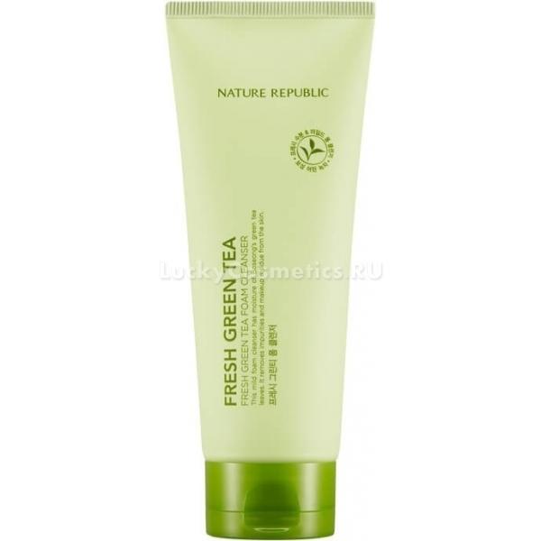 Купить Nature Republic Fresh Green Tea Foam Cleanser