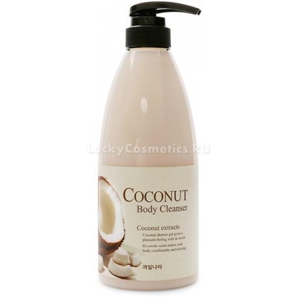 Welcos Coconut Body CleanserПорадуйте свою кожу вкусным кокосовым десертом от Welcos. Кокосовое молочко в составе геля для душа поможет зарядить кожу энергией и подарит ей невероятную мягкость. Ультра питательная формула продукта поддерживает оптимальный уровень влажности, сохраняет физиологический уровень pH и поддерживает ее здоровье. Специальные компоненты бережно отшелушивают отмершие частички эпидермиса, улучшают микроциркуляцию крови в тканях и усиливает защитные функции кожного покрова. Кожа в течение дня будет буквально излучать легкий кокосовый аромат, который настроит на продуктивный день. Дезодорирующие компоненты средства великолепно справятся с причиной неприятного запаха – бактериями. Кожа будет выглядеть идеально и станет более эластичной.<br>Экстракт кокоса обладает тонизирующим, увлажняющим и регенерирующим действием. Помогает восстановить природную упругость и дарит невероятную гладкость и бархатистость.Объём: 740 гр.Способ применения:Капните необходимое количество средства на влажные ладони или мочалку и очистите кожу от загрязнений.<br>