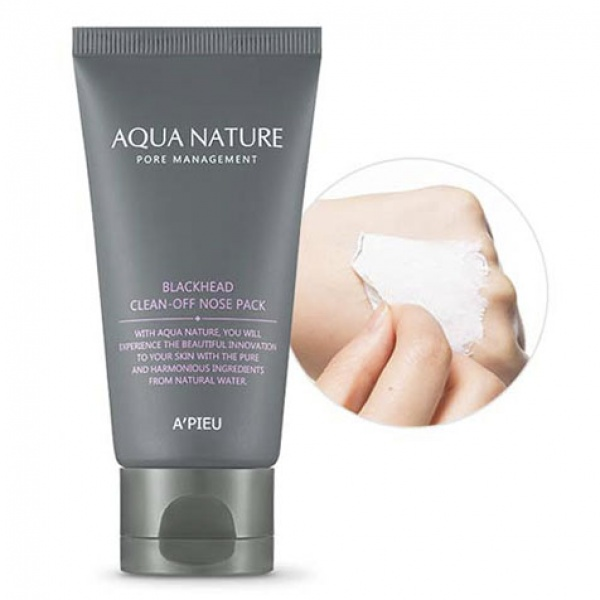 Купить APieu Aqua Nature Blackhead CleanOff Nose Pack, A'Pieu