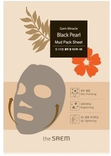 The Saem Gem Miracle Black Pearl Mud Pack Sheet