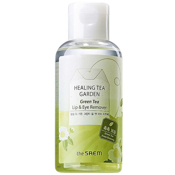 The Saem Healing Tea Garden Green Tea Lip and Eye Remover фото