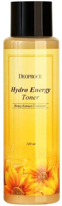 Deoproce Hydro Energy TonerО питании кожи влагой мы вспоминаем тогда, когда возникают явные признаки ее недостатка. Но внешние проявления являются сигналом серьезных и глубоких проблем. Увлажнение кожи это не только залог отсутствия шелушений и сухости, но и отсутствия преждевременных возрастных изменений и замедления их появления. Глубоко напитать кожу влагой и полезными веществами поможет тонер на основе экстракта меда от компании Deoproce.<br>В состав тонера Hydro Energy входит экстракт меда. Этот компонент богат витаминами, белками, аминокислотами, органически кислотами. Экстракт меда, благодаря легкой текстуре тонера, способен проникать в глубокие слои кожи и напитывать ее необходимыми веществами.<br>При регулярном использовании тонера Hydro Energy Toner:<br>улучшается работа сальных желез;<br>кожа становится увлажненной;<br>активизируется процесс регенерации.Объём: 240 мл.Способ применения:Тонер следует наносить на кожу сразу после завершения процедуры умывания. Выдавите немного средства на кончики пальцев и распределите по поверхности кожи легкими похлопывающими движениями. Также можно наносить тонер при помощи ватного диска. Не нужно втирать тонер, он должен впитаться естественным образом.<br>