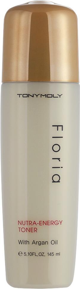 Tony Moly Floria  NutraEnergy TonerЭнергетический тонер позволяет качественно наделить кожу влагой, освежить ее изнутри и, конечно, наделить питательными особыми веществами. Эффективности данного тонера способствуют микрокапсулы, входящие в рецептуру его состава. Они раскрываются именно в тот момент, когда оказываются на коже.<br><br>В составе продукта только натуральные природные компоненты: растительные экстракты шпината и гамамелиса, которые являются незаменимыми помощниками в питании и снятии стресса, аргановое масло, известное своим оздоравливающим эффектом, ведь в нем содержится целая серия витаминов. Еще один компонент &amp;ndash; сафлоровая вода, которая напитает кожу, заполнит ее влагой изнутри.<br><br>Можно без опаски использовать тонер для лица Tony Moly Floria Nutra-Energy Toner тем, кто является обладателем чувствительного эпидермиса, ведь средство гипоаллергенно и безопасно благодаря отсутствию красителей, опасных для организма,триклозана и парабена.<br><br>&amp;nbsp;<br><br>Объём: 80 мл<br><br>&amp;nbsp;<br><br>Способ применения:<br><br>Использовать тонер очень просто: средство нужно тщательно нанести на всю кожу лица нетолстым слоем, можно делать данную процедуру похлопывающими или массажными движениями. Подождать пока тонер впитается.<br><br>Если использовать тонер вечером, он может стать основой под средства последующего ухода: сыворотку или крем.<br><br>При использовании утром, послужит в роли основы под Ваш обычный макияж.<br>