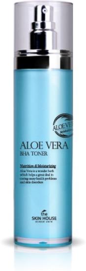 The Skin House Aloe Vera BHA TonerЭтот тонер является прекрасным продуктом по уходу за кожей каждого типа, в том числе зрелого и проблемного. Он имеет легкую водянистую текстуру, которая не образует неприятной пленки, а его богатый состав, насыщенный полезными ингредиентами, позволяет оказать комплексный положительный эффект на состояние эпидермиса. В состав средства включены такие компоненты, как вытяжки алоэ, красного женьшеня, арбутин и BHA кислоты. Вытяжка алоэ эффективно увлажняет, смягчает и питает кожу, снимая покраснения и снижая проявленность акне. Вытяжка красного женьшеня великолепно тонизирует и разглаживает эпидермис, в результате чего количество морщинок заметно сокращается, а контуры овала лица становятся более четкими. Арбутин и BHA кислоты прекрасно отшелушивают омертвевшие клеточки кожи, осветляя и выравнивая ее тон, а также избавляя от акне, широких пор и пигментации. Использование продукта является рекомендованным, поскольку это благоприятствует повышению эффективности всех продуктов, используемых в дальнейшем уходе за лицом. Станьте обладательницей идеальной кожи, применяя этот тонер от бренда The Skin House!<br><br>&amp;nbsp;<br><br>Объём: 120 мл<br><br>&amp;nbsp;<br><br>Способ применения:<br><br>Средство требуется наносить на кожу после каждой процедуры ее очищения.<br>