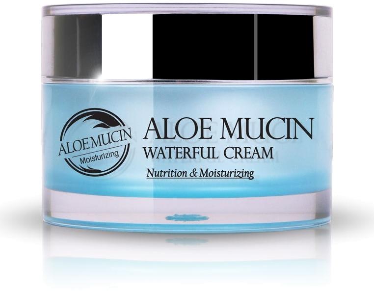 The Skin House Aloe Mucin Waterful CreamЭтот крем представляет собой универсальный ухаживающий продукт, предназначенный для кожи каждого типа. Он обладает легчайшей текстурой, которая ультра-быстро впитывается во все слои эпидермиса, не образуя неприятной пленки. Комплексный положительный эффект обеспечивается благодаря ингредиентам натурального происхождения, включенным в его содержание. Ключевыми компонентами состава средства являются вытяжка алоэ и экстракт улиточного муцина. Вытяжка алоэ имеет великолепное питательное, антивоспалительное, увлажняющие и успокаивающее действие. Экстракт улиточного муцина интенсивно разглаживает, подтягивает кожу, а также обладает осветляющим эффектом. Содержание продукта также обогащено растительными экстрактами, которые насыщают клеточки эпидермиса полезными витаминами и элементами. Каждодневное применение данного средства позволит избавиться от таких известных проблем на лице, как обезвоженность, акне, тусклый оттенок, наличие пигментных пятен, морщинок, а также недостаток тонуса и эластичности. Подарите вашей коже красивый, молодой и ухоженный вид, применяя данный крем от бренда The Skin House!Объём: 50 млСпособ применения:Средство необходимо наносить на кожу после вечерней и утренней процедур очищения.<br>