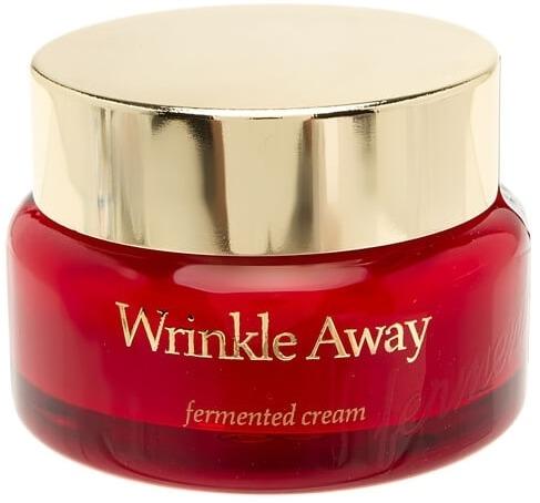 The Skin House Wrinkle Away Fermented CreamХороший антивозрастной крем, по мнению косметологов, должен выполнять такие важные функции, как питание, защита, увлажнение и разглаживание морщинок. Со всеми этими задачами прекрасно справляется средство от корейского бренда The Skin House.<br><br>При регулярном использовании крем моделирует микрорельеф кожи, повышает ее эластичность, борется за тургор, устраняет тусклый цвет и осветляет пигментные пятна. Также он превосходно защищает дермальные клетки от разрушающего действия свободных радикалов и агрессивных факторов внешней среды.<br><br>Омолаживающая формула средства содержит экстракт корня женьшеня и масло плодов мангового дерева. Эти компоненты имеют богатый химический состав. Они включают в себя незаменимые кислоты, минералы, витамины и антиоксиданты. Также крем содержит экстракт молочных грибов, который усиливает выработку коллагена, интенсивно увлажняет кожу, придает коже упругость и возвращает тонус.<br><br>Крем азиатской фирмы, как и другие омолаживающие средства, содержит гиалуроновую кислоту. Она восстанавливает водный баланс в тканях и способствует исчезновению морщинок.<br><br>Средство может быть использовано обладателями чувствительной кожи, поскольку не содержит парабенов, эмолентов на основе нефтепродуктов и спирта.Объём: 50 млСпособ применения:Нанести крем на чистую сухую кожу лица после тонера.<br>