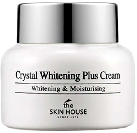 The Skin House Crystal Whitening Plus CreamЭтот крем является истинной находкой для обладательниц кожи, имеющей такие недостатки, как постакне, веснушки и пигментация. Он обладает консистенцией средней густоты, а также потрясающей впитываемостью, что позволяет исключить образование липкой пленки и делает его идеальной базой для ежедневного макияжа. Высокоэффективное действие продукта обеспечивается его роскошным составом, насыщенным активными натуральными ингредиентами. Содержание крема включает в себя вытяжки фиалки, черники, японского вяза, лаванды, а также арбутин и гиалуроновую кислоту. Вытяжки черники, японского вяза и арбутин обеспечивают деликатное отшелушивание кожи, благодаря которому происходит осветление недостатков и выравнивание тона лица. Вытяжка фиалки благоприятствует повышению упругости кожи, укреплению лицевого овала, а также повышению иммунитета эпидермиса к отрицательному влиянию окружающих условий. Вытяжка лаванды оказывает бактерицидное и успокаивающее действие, минимизируя риск возникновения высыпаний и раздражений. Гилауроновая кислота благоприятствует длительному увлажнению эпидермиса на клеточном уровне, а также минимизирует риск возникновения преждевременных признаков увядания. Курс применения средства позволит комплексно улучшить состояние любой кожи, а также забыть о таких ее недостатках, как неровный оттенок, проявленность акне, пигментных пятен и веснушек. Позвольте себе стать обладательницей безупречной кожи, используя этот крем осветляющего действия от бренда The Skin House!<br><br>&amp;nbsp;<br><br>Объём: 50 мл<br><br>&amp;nbsp;<br><br>Способ применения:<br><br>Средство требуется наносить на кожу после вечерней и утренней процедур очищения.<br>