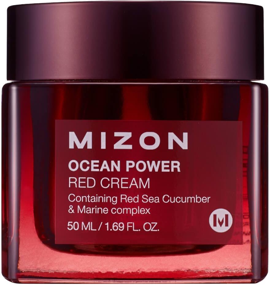 Mizon ocean power red creamАнтивозрастной крем Ocean Power Red Cream содержит 65% экстракта морского огурца. Крем восстанавливает эластичность и упругость кожи, оказывает эффект лифтинга, разглаживает морщины, осветляет и освежает кожу лица.<br><br>Объем: 50 мл.<br><br>Способ применения:<br><br>нанесите крем на сухую очищенную кожу лица и распределите по лицу легкими массажными движениями.<br>