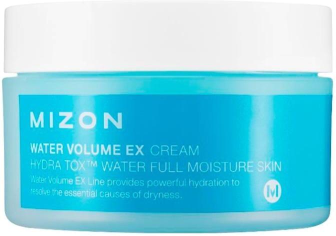 Mizon Water Volume EX CreamИнтенсивно увлажняющий крем Mizon Water Volume EX Cream подарит вашей коже ощущение напитанности и свежести на весь день! Благодаря экстракту морских вородослей крем стимулирует обменные процессы в верхних слоях кожи, что ускоряет процесс регенерации кожи и тормозит ее старение. Масло семян моринги содержит антибиотик, который помогает бороться с воспалениями, а также сужает поры и балансирует выделение кожного жира. Крем помогает укрепить текстуру кожи и способствует улучшению цвета лица.<br>&amp;nbsp;<br><br>Объём: 100 мл<br><br>&amp;nbsp;<br><br>Способ применения:<br><br>Нанесите средство на сухую чистую кожу и распределить массажными движениями.<br>