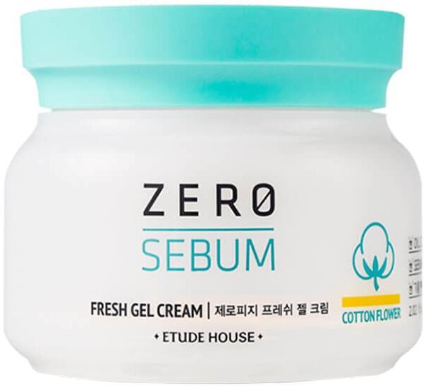 Etude House ZeroSebum Fresh Gel CreamЭтот мультифункциональный крем &amp;ndash; идеальный выбор для ухода за кожей с повышенной активностью сальных желез. Его высокоэффективная формула позволяет добиться отличных эстетических результатов, не пересушивая кожу. Крем освежает, убирает жирный блеск, сводит на нет видимость пор и дает матовый финиш. Усиленный oil-control возможен благодаря шикарному составу, разработанному корейскими экспертами красоты.<br><br>Гиалуроновая кислота в составе геля глубоко увлажняет кожу. Биологически активный компонент хранит в себе секрет вечной молодости: предотвращает потерю дермой ценной влаги, стимулирует выработку коллагена, избавляет от покраснений и поддерживает тонус. Экстракт хлопка восстанавливает структуру кожи, сохраняет баланс влаги и сокращает количество морщин. Растительные абсорбенты позволяют деликатно избавиться от омертвевшего слоя клеток и полностью очистить поры. Гель не забивает протоки сальных желез и не провоцирует появление новых высыпаний.<br><br>Крем обладает невесомой гелевой текстурой. Он плавно распределяется по коже, не доставляя женскому личику дискомфорт.<br><br>&amp;nbsp;<br><br>Объём: 60 мл<br><br>&amp;nbsp;<br><br>Способ применения:<br><br>Нанесите питательный крем на кожу, следуя массажным линиям лица и шеи.<br>