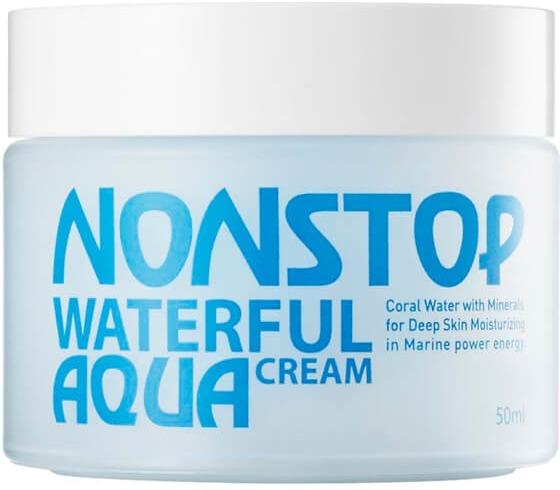 Mizon Nonstop Waterful CreamЛегкий гель-крем Nonstop Waterful Cream &amp;ndash; идеальное решение для ежедневного ухода и увлажнения сухой и комбинированной кожи. Крем поддерживает чистоту и уровень влаги без каких-либо следов, стягивающих пленок или жирного блеска даже при частом применении.<br><br>Специалисты компании Mizon создали Nonstop Waterful Cream для регулярного использования не только как самостоятельное средство, но и в комбинации с другой функциональной либо декоративной косметикой. Главная его функция &amp;ndash; увлажнять и поддерживать увлажнение кожи в режиме нон-стоп 24 часа в сутки.<br><br>Крем представляет собой морской коктейль с экстрактами кораллов и водорослей в главной роли, и натуральными растительными компонентами на втором плане.<br><br>Богатый состав Waterful Cream<br><br>Действующие ингредиенты увлажняющего крема:<br><br><br>Экстракт кораллов в гидролизованном виде &amp;ndash; источник более 70 важных для организма микроэлементов, составляющих 10 % всего крема: кальций (34 %), магний (2%) и кремний (1,4 %), а также йод, фтор, цинк, марганец, железо, фосфор, селен, натрий, бром, хром, сера и многие другие. Абсолютно натуральные океанические микроэлементы способствуют во многих процессах метаболизма.<br>Коллаген морских водорослей &amp;ndash; удобоваримый для кожи коллаген, который максимально эффективно усваивается благодаря органическому происхождению и сопутствующим веществам таллома водорослей. Наполнение кожи коллагеном повышает её упругость и обеспечивает подтягивающий эффект.<br>Матриксил &amp;ndash; в отличие от предыдущих, синтетический белок, но, тем не менее, полезный. Его главная задача &amp;ndash; восстановление местами поврежденного или разрушенного межклеточного вещества (матрикса), в котором живут клетки кожи и которое обеспечивает физические свойства покровов (упругость и эластичность). Матриксил является основным белком матрикса, поэтому его пополнение вызывает прямой эффект &amp;ndash; разглаживание морщин, избавление о