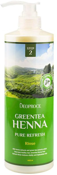 Deoproce Rinse Greentea Henna Pure Refresh
