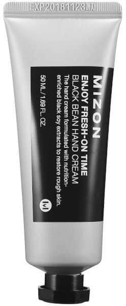 Mizon Black Bean Hand CreamУдивительный крем с содержанием масла черных бобов является настоящим эликсиром для сохранения молодости и красоты ваших рук! Наличие приятнейшей текстуры и супербыстрой впитываемости делает его таким комфортным в применении, а большое содержание растительных компонентов в составе обеспечивает действительный оздоравливающий эффект на коже! Масло черных бобов &amp;ndash; уникальный антивозрастной компонент, который обладает разглаживающими, тонизирующими и восстанавливающими свойствами. Дополнительными ингредиентами состава средства являются масло ши, кислота гиалуроновая и березовый сок. Березовый сок обладает удивительным витаминизирующим эффектом. Масло ши изумительно смягчает и напитывает кожу, делая ее удивительно нежной! Гиалуроновая кислота суперэффективно насыщает влагой эпидермис, предупреждая образование новых морщинок. Регулярное применение такого крема позволит оказать комплексный омолаживащий эффект сделать красивой, мягкой и ухоженной даже увядающую кожу рук. Порадуйте себя высокоэффективным корейским уходом, используя это средство на основе масла черных бобов от Mizon!<br><br>&amp;nbsp;<br><br>Объём: 50 мл<br><br>&amp;nbsp;<br><br>Способ применения:<br><br>Продукт рекомендуется наносить на чистые и сухие кисти рук при помощи легких массажных движений.<br>