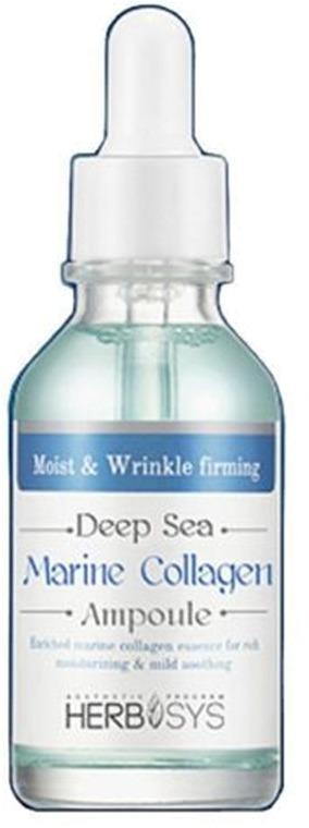 Mizon Deep sea marine collagen ampoule[Mizon] представляет ампульную косметику без консервантов с антистресс-эффектом Deep Sea Marine Collagen Ampoule. Эта омолаживающая сыворотка с основой из морских водорослей подтягивает кожу, предотвращая появление морщин. Коллаген, содержащийся в водорослях, активно усваивается кожей с поверхности, возмещая естественные потери собственного коллагена в процессе старения.<br><br>Поэтому при регулярном использовании Deep Sea Collagen Ampoule эластичность кожи повышается, усиливается тургор клеток и, как следствие, разглаживаются морщины мелких и средних размеров, а время появления новых оттягивается на многие годы. Благодаря вспомогательным веществам сыворотка, кроме лифтинг-эффекта, увлажняет, насыщает и улучшает здоровье кожи.<br><br>Уникальный состав сыворотки<br><br>Сыворотка для омоложения Deep Sea Ampoule содержит:<br><br><br>Морской коллаген &amp;ndash; основное действующее вещество. Представляет собой структурный белок, содержащийся в живых организмах для поддержания гибкости покровов и удержания влаги. Добытый из водорослей, морской коллаген обладает высокими параметрами увлажнения и эластичности.<br>Аденозин &amp;ndash; стимулирует выработку белков эластина и коллагена, благодаря чему является необходимым компонентом косметических средств, предназначенных для восстановления и оздоровления кожи.<br>Гиалуроновая кислота &amp;ndash; еще один компонент, удерживающий влагу в коже. Способствует процессам регенерации и улучшает кровоснабжение, благодаря чему уменьшается отечность и ускоряется питание и самоочищение кожи.<br>Березовый сок включен в состав, благодаря его способности устранять пигментные пятна, в том числе веснушки. Также придает коже весеннюю свежесть и наполняет витаминами.<br>Бамбуковый сок &amp;ndash; универсальный компонент, который способен не только стимулировать синтез белков, но и содержит широкий спектр витаминов, минеральных солей и аминокислот, а также необходимый коже силиций.<br>Трегалоза помогает ор