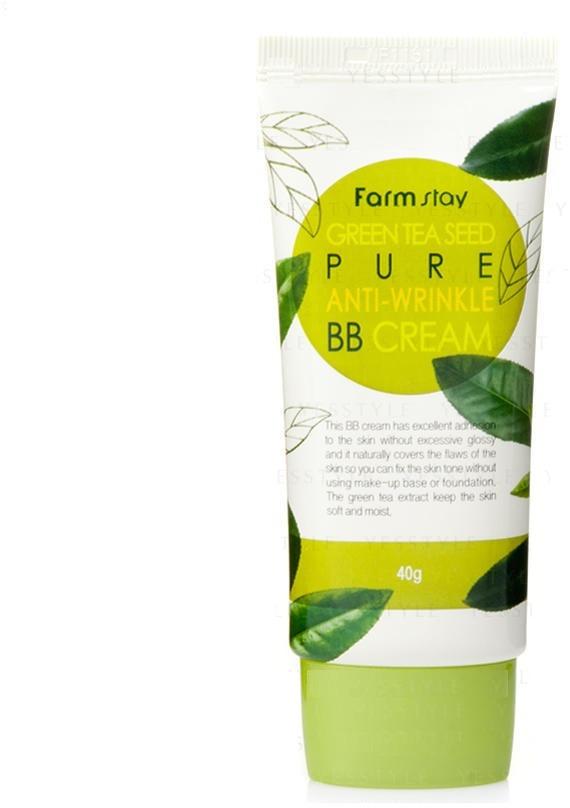 BB  FarmStay Antiwrinkle BB CreamАнтивозрастной BB крем Anti-wrinkle BB Cream как средство двойного действия омолаживает кожу, одновременно придавая ей сияющий и ухоженный вид. В состав крема входят активные вещества, стимулирующие рост клеток коллагена. Полезные вещества проникают в глубокие слои эпидермиса, обогащая клетки необходимыми витаминами и микроэлементами. В состав крема входят светоотражающие частицы. Смешиваясь с поверхностными клетками кожи, они маскируют мелкие трещинки, пятна и неровности. В результате кожа выглядит безупречно гладкой и здоровой. Из-за превосходной адгезии крема нет необходимости использовать основу под макияж.Под слоем крема кожа надежно защищена от вредного воздействия ультрафиолетовых лучей. Средство содержит специальные частицы, нейтрализующие вредное излучение.<br><br>&amp;nbsp;<br><br>Объём: 40мл<br><br>&amp;nbsp;<br><br>Способ применения:<br><br>Антивозрастной BB крем, разработанный лабораторией FarmStay для женщин старше 40 лет, подходит для повседневного применения. Для достижения лучшего результата крем следует наносить на предварительно очищенную лосьоном или тоником кожу лица и шеи. Небольшое количество крема выдавливают из тюбика на ладонь, после чего втирают в кожу легкими круговыми движениями.Крем можно смешивать с пудрой или с тональной основой для получения более естественного оттенка, адаптированного к цвету кожи.<br>