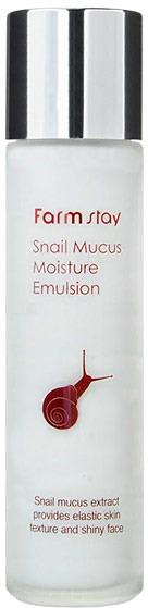 FarmStay Snail Mucus Moisture EmulsionУвлажняющая эмульсия со слизью улитки направлено действует на различные проблемы кожи:<br><br>&amp;uuml; Борьба с жирным блеском, прыщами, черными точками, рубцами от постакне.<br><br>&amp;uuml; Разглаживание морщин, синтез коллагена, внутриклеточное восстановление и обновление эпидермиса.<br><br>&amp;uuml; Осветление пигментации, пятен от акне.<br><br>&amp;uuml; Насыщение клеток влагой, устранение шелушений и раздражений, повышение иммунитета кожи.<br><br>&amp;uuml; Муцин улитки &amp;ndash; прекрасный проводник для других полезных веществ, находящихся в составе эмульсии.<br><br>Средство обладает бактерицидными и общеоздоравливающими свойствами. Прекрасно подойдет для сухой, проблемной, стареющей кожи с неоднородным цветом лица.<br><br>&amp;nbsp;<br><br>Объём: 150 мл<br><br>&amp;nbsp;<br><br>Способ применения:<br><br>В ежедневном корейском уходе за лицом эмульсия применяется после средства для умывания, тонизирования и нанесения сыворотки или эссенции. Для этого небольшое количество эмульсии выдавить на ладонь и похлопывающими движениями &amp;laquo;вбить&amp;raquo; в поры кожи лица.<br>