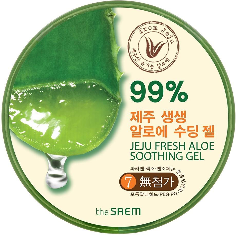 The Saem Jeju Fresh Aloe Soothing GelАлоэ-гель представляет собой поистине удивительное средство, являющееся необходимостью в каждой семье! Продукт, обладающий водянистой, абсолютно нелипкой текстурой, он моментально впитывается в эпидермис, оказывая комплексный оздоравливающий эффект на клеточном уровне. Средство отличается большой многофункциональностью и принесет пользу в уходе за кожей абсолютно любого типа, кроме того, оно практически натуральное, поэтому не окажет вреда и не вызовет эффекта привыкания. Представленный гель содержит в себе сок алоэ в концентрации 99%, а ведь именно это растение обладает богатым химическим составом и издавна применяется в ходе за кожей. Алоэ обладает высокими регенерирующими, успокаивающими, увлажняющими, бактерицидными, заживляющими, а также регулирующими свойствами, поэтому гель на его основе имеет широчайший спектр использования. Средство представляет собой великолепный ухаживающий продукт за кожей тела и лица, а также может применяться в качестве масок и успокаивающего продукта после пребывания под жаркими лучами и укусов насекомых. Наличие такого средства в вашем арсенале ухаживающих продуктов обеспечит здоровье кожи и ее комфорт в любое время. Позаботьтесь о красоте вашей кожи, используя этот алоэ-гель от корейского производителя!<br><br>&amp;nbsp;<br><br>Объём: 300 мл<br><br>&amp;nbsp;<br><br>Способ применения:<br><br>Продукт следует использовать на очищенной коже тела и лица по мере необходимости в любое время суток.<br>