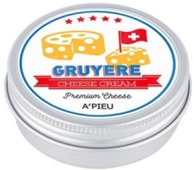 APieu Gruyere Cheese CreamПорадуйте свою кожу воздушным десертом от корейского бренда APieu. Средство с невероятно питательной формулой Gruyere Cheese Cream прекрасно увлажнит и наполнит клетки жизненной энергией. Уникальная тающая текстура крема мгновенно растворяется на коже и проникает в глубокие слои, где активирует «спящие» клетки. Кожа мгновенно восстанавливается, приобретает сияющий и здоровый вид.<br>Питательные молочные протеины крема захватывают и доставляют в дерму молекулы воды и кислорода. Разглаживаются рельефные участки кожи, исчезает сеточка морщин, кожа становится невероятно гладкой и эластичной. Кроме того средство предупреждает первые проявления деградации клеток, снимает усталость и отечность с тканей. Создает на поверхности кожи тонкую воздухопроницаемую пленочку, благодаря которой она защищена от негативного влияния ультрафиолета, образования свободных радикалов и пересыхания. Отлично подойдет для ухода за любым типом кожи, особенно за увядающей, сухой и тусклой. Может использоваться в качестве дневного (под макияж) или ночного (восстанавливает клетки) средства.Объём: 45 гр.Способ применения:На предварительно очищенную и тонизированную кожу нанесите тонким слоем крем и дайте впитаться. При особо сухой коже можно нанести второй слой на сухие участки.<br>