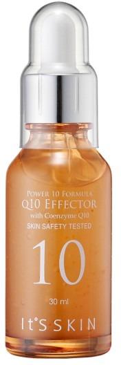 Its Skin Power  Formula Q EffectorСыворотка для лица с коэнзимом Q10 специально разработан для зрелой кожи. С возрастом клетки вырабатывают меньшее количество коллагена и поэтому коже нужна дополнительная помощь. Восполнить запасы и помочь клеткам снова работать в полную силу поможет сыворотка Power Effector.<br>Сыворотка насыщает клетки питательными веществами, восстанавливает и запускает процессы регенерации изнутри, в результате чего кожа становится более упругой, эластичной и увлажненной. Благодаря коэнзиму, входящему в состав средства, достигается мощнейший антиоксидантный эффект, кожа мгновенно разглаживается, становится сияющей с матовым эффектом.<br>При постоянном использовании 10 Formula Q10 клетки восстанавливаются, улучшается обмен питательных веществ, кожа насыщается кислородом и сияет здоровьем. Кроме того ее можно использовать совместно с другими средствами по уходу. Средство очень экономично расходуется, на одно применение нужно всего 2 – 3 капли. Сыворотку можно также подарить маме или подруге, очень приятный и красивый флакон не оставит никого равнодушным.Объём: 30 мл.Способ применения:Встряхните флакон и на очищенную кожу лица нанесите 2 – 3 капли сыворотки, похлопывающими движениями распределите по проблемным зонам, дайте средству впитаться.<br>