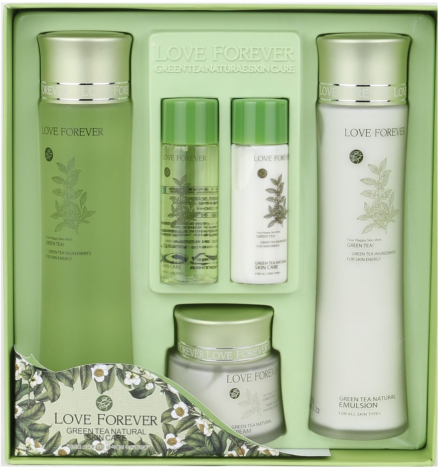 W Clinic Love Forever Green Tea Natural Skin Care