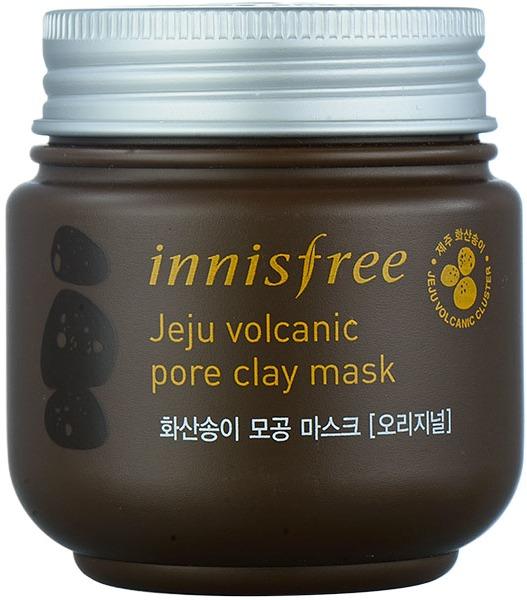 Innisfree Jeju Volcanic Pore Clay MaskКосметический бренд Innisfree постоянно работает над расширением как списка своих средств, так и компонентов, используемых при их создании. Уникальный ингредиент, используемый данным брендом – вулканическая глина. Именно она стала основой для создания маски для сужения пор Jeju Volcanic Mask.<br>Маска представлена в стильной коричневой упаковке и обладает густой текстурой. Pore Clay начинает свое действие сразу после нанесения на кожу. Эффект от регулярного использования продукта - чистая, молодая, гладкая, упругая кожа без шелушений, жирных участков, неровностей, акне и черных точек. Он достигается за счёт того, что вулканическая глина сокращает количество кожного сала, вытягивает грязь из внутренних слоев кожи, устраняет омертвевшие чешуйки, тем самым сужая поры.Объём: 170 гр.Способ применения:Очистить лицо и нанести маску на всю поверхность, кроме области вокруг глаз и губ. Оставить примерно на 10 минут, помассировать лицо и удалить маску водой. Продукт можно использовать до трех раз в неделю для максимального эффекта.<br>