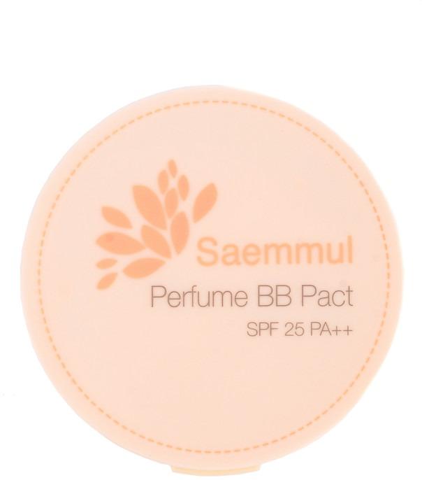The Saem Sammul Perfume BB Pact SPF PAКомпактная ароматизированная ББ-пудра Sammul Perfume Pact – базируется на новейших технологиях молекулярной косметологии. Составные элементы пудры, улучшают строение клеток, полностью подстраиваясь под тон кожи, поддерживает и выравнивая родной, естественный цвет лица.<br>Инновационные разработки широко используются в косметологической хирургии, ускоряя восстановление и регенерацию клеток.  Надежно защищает от ультрафиолетовых лучей.<br>Ароматизированная пудра содержит цветочную композицию из экстрактов: нарцисса, лилии, лотоса, эдельвейса, азалии, розы, жасмина и фрезии. Цветочный концентрат не только придает пудре удивительный аромат, но и поддерживают кожу защитными и питательными компонентами.<br>Содержащиеся в пудре вещества, надежно матируют, выравнивают цвет лица, абсорбирует кожный жир и сохраняет матовость кожи на протяжении всего дня.<br>Пудра арома-компакт имеет привлекательный дизайн коробочки, ее приятно держать в руках и удобно использовать. Имеет легкую шелковистую текстуру и довольно экономична.<br>Производитель предлагает два варианта арома-компакт пудры.Объём: 20 гр.Способ применения:Используют пудру нанося с помощью мягкого спонжа. Компактная арома-пудра эффективно выравнивает кожу, можно использовать самостоятельно и в комплексе с базовым макияжем.<br>