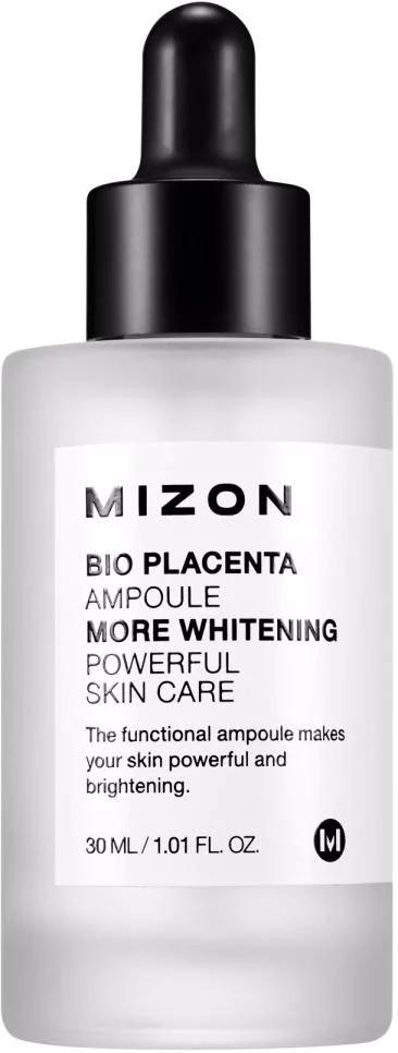 Mizon Bio Placenta AmpouleВ периоды, когда кожа нуждается в экстренной и эффективной помощи, незаменимым средством станет ампульная сыворотка Mizon. Содержание активных компонентов в ней достигает максимальной концентрации, а особенности упаковки позволяю сильно снизить количество стабилизирующих и консервирующих добавок.<br><br>Основным действующим веществом Bio Placenta Ampoule является экстракт животной плаценты высокой степени очистки без содержания гормонов. Этот ингредиент считается одним из самых эффективных омолаживающих средств: благодаря сходному строению с молекулами кожи оно практически полностью принимается ею.<br><br>Антивозрастной эффект вытяжки из плаценты заключается в особом воздействии ее биологически активных компонентов на кожные покровы. Среди многочисленных полезных функций вещества к самым важным можно отнести следующие:<br><br><br>регенерация;<br>насыщение питательными элементами;<br>активизация выработки фибриллярных белков эластина и коллагена;<br>повышение тонуса и укрепление защитного барьера кожи;<br>снижение гиперпигментации.<br><br><br>Еще одним омолаживающим компонентом сыворотки является Пальмитоил трипептид-5. Эффективность этого пептида научно доказано: в ходе нескольких исследований было отмечено существенное смягчение кожи и сокращение глубины морщин. Средство признано безопасным и не оказывающим побочных эффектов.<br><br>Никотиновая кислота (витамин В3) подтягивает и восстанавливает упругость кожи лица, а также осветляет пигментные пятна.<br><br>&amp;nbsp;<br><br>Объём: 30 мл<br><br>&amp;nbsp;<br><br>Способ применения:<br><br>На подвергнувшуюся глубокой очистке кожу с помощью пипетки нанести несколько капель средства. Использовать курсом.<br>