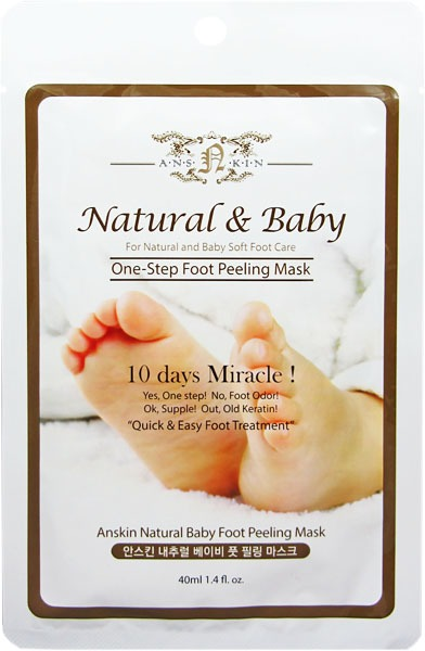 Anskin Natural Baby Foot Peeling Mask  Sheet