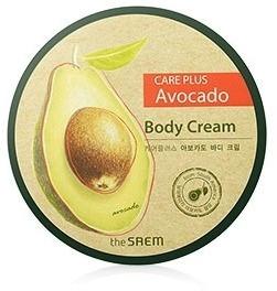 The Saem Care Plus Avocado Body CreamКожа тела нуждается в уходе не меньше, чем кожа лица. Для этого идеально подходит крем для тела серии Care Plus от корейской компании The Saem.<br>В его основе – экстракт авокадо. Этот компонент обладает такими полезными для кожи свойствами:<br>активизирует природные процессы выработки коллагена;<br>глубоко увлажняет;<br>защищает кожу от негативного воздействия солнца;<br>улучшает кровообращение;<br>способствует насыщению кожи кислородом;<br>предупреждает возникновение пигментации.<br>Помимо экстракта авокадо в состав крема входят масло сои, масло зародышей пшеницы, экстракт ромашки и мед. Они дополняют и усиливают действие основного компонента.<br>После регулярного применения Avocado Body Cream можно заметить, что кожа стала более мягкой, увлажненной и упругой.<br>Крем идеально подходит для обладательниц всех типов кожи, в особенности тем, у кого она склонная к сухости и имеет проявления увядания.Объём: 300 мл.Способ применения:Крем нужно наносить на очищенную и сухую кожу. Небольшое количество средство следует распределить по поверхности кожи. Движения должны быть плавными, массажирующими. По возможности, позвольте остаткам крема впитаться.<br>