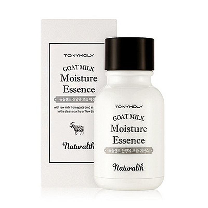 Эссенция на основе козьего молока Тony Moly Naturalth Goat Milk Moisture EssenceЭто средство на 50 процентов состоит из натурального компонента, в роли которого выступает козье молоко. Нежная и легкая структура эссенции станет отличным выбором как для молодой кожи, так и для возрастной.<br><br>Продукт питает кожу активными веществами, обеспечивает щадящий уход.<br><br>Протеинам молока свойственна регенерационная функция, во время которой происходит обновление на клеточном уровне. Также этот компонент борется с любыми источниками воспаления, удаляет огрубевшие клетки кожи и наделяют влагой эпидермис с нарушением водного баланса. Происходит устранение морщин и замедление старения. Увеличивается количество коллагена, который отвечает за упругость и эластичность кожной структуры.<br><br>Полисахарид, также известный под названием гиалуроновая кислота, сохраняет водный баланс эпидермиса.Его молекулы способны удерживать вокруг себя влагу, тем самым не допуская обезвоживания клеток кожи. Благодаря кислоте происходи т выработка эластина - активного вещества, сохраняющего упругость кожного покрова.<br><br>Тонус кожи поддерживается в течение всего дня, благодаря козьему молоку, которое к тому же создает защитную пленку, являющуюся барьером для внешних воздействий.<br><br>&amp;nbsp;<br><br>Объём: 127 гр<br><br>&amp;nbsp;<br><br>Способ применения:<br><br>Эссенция проста в применении. Путем массажа необходимо нанести средство на все участки кожи лица.<br>