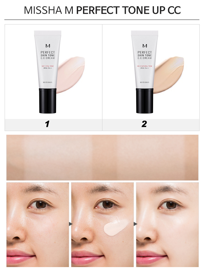 Missha M Perfect Skin Tone CC Cream SPF
